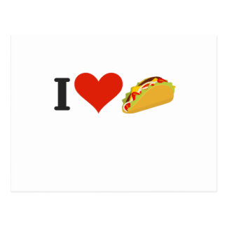 I Love Tacos For Taco Lovers Postcard