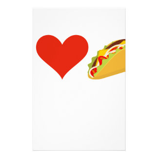 I Love Tacos For Taco Lovers Stationery