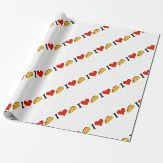 I Love Tacos For Taco Lovers Wrapping Paper
