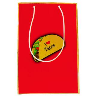 I Love Tacos Medium Gift Bag