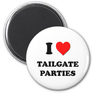 I love Tailgate Parties Refrigerator Magnet