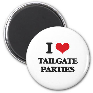 I love Tailgate Parties 2 Inch Round Magnet