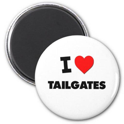 I love Tailgates Fridge Magnet