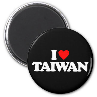 I LOVE TAIWAN 2 INCH ROUND MAGNET