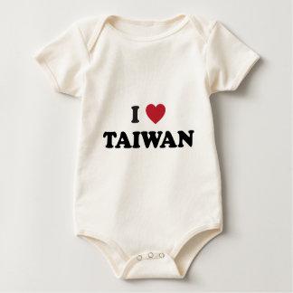 I Love Taiwan Baby Bodysuit
