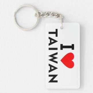 I love Taiwan country like heart travel tourism Keychain
