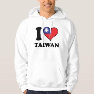 I Love Taiwan Taiwanese Flag Heart Hoodie