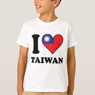 I Love Taiwan Taiwanese Flag Heart T-Shirt