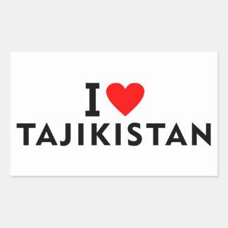 I love Tajikistan country like heart travel touris Sticker