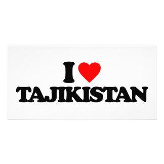 I LOVE TAJIKISTAN PHOTO GREETING CARD