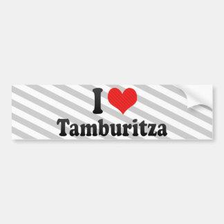 I Love Tamburitza Bumper Sticker