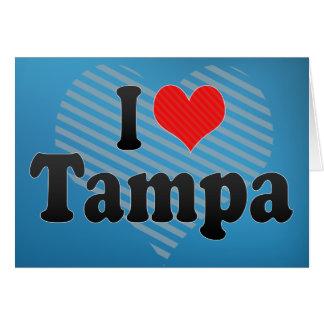 I Love Tampa Card