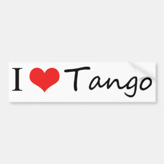 I love tango cool products! bumper sticker