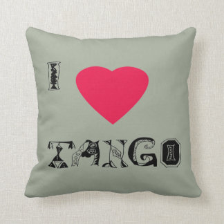 I love Tango Throw Pillow