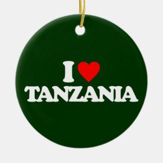 I LOVE TANZANIA CERAMIC ORNAMENT