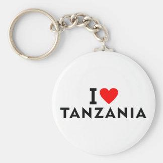 I love Tanzania country like heart travel tourism Keychain