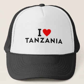 I love Tanzania country like heart travel tourism Trucker Hat