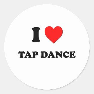 I love Tap Dance Classic Round Sticker