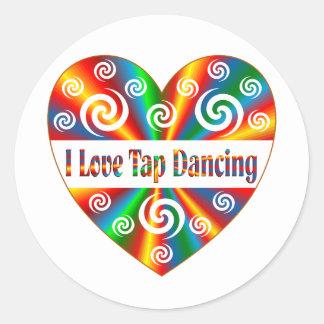 I Love Tap Dancing Round Sticker