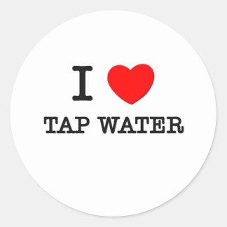 I Love Tap Water Round Sticker