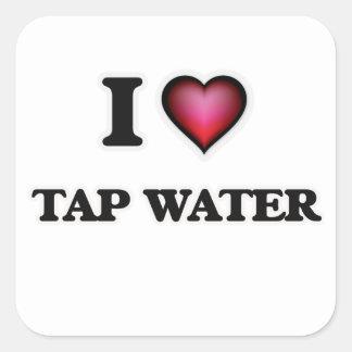 I Love Tap Water Square Sticker