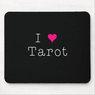 I Love Tarot Mouse Pad Dark