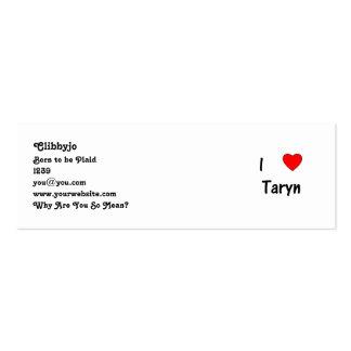 I Love Taryn Business Card Template