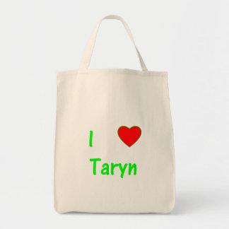 I Love Taryn Tote Bags