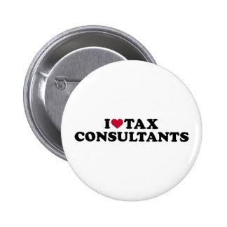 I love tax consultants 2 inch round button