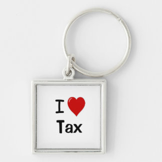 I Love Tax I Heart Tax Keyring