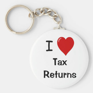 I Love Tax Returns - Tax Preparer Keychain