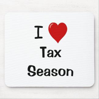 I Love Tax season - I Heart Tax season Mouse Pad
