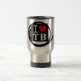 I LOVE TB Frost Glass (1 Color) Travel Mug