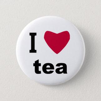 I Love Tea 2 Inch Round Button