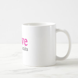 I love tea and biscuits design 11 in Pink Coffee Mug