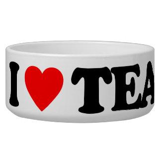 I LOVE TEA DOG WATER BOWL