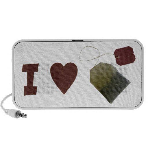 I Love Tea Doodle Travel Speaker