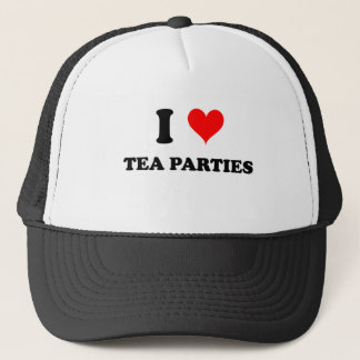 I Love Tea Parties Trucker Hat