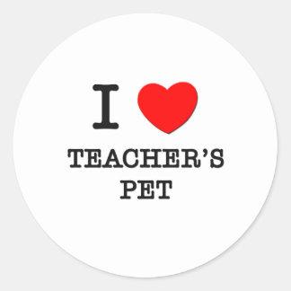 I Love Teacher S Pet Sticker