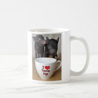 I Love Teacup Pigs Mug
