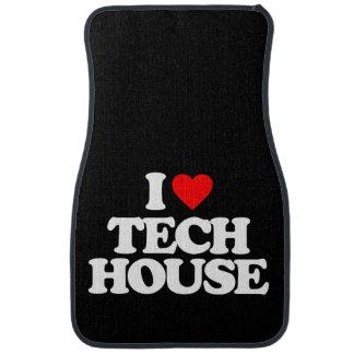 I LOVE TECH HOUSE CAR MAT