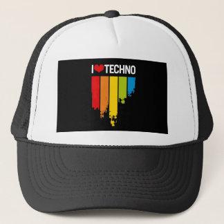 I Love techno music Trucker Hat