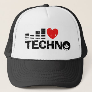 I Love Techno Trucker Hat