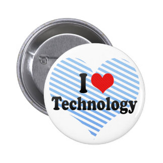I Love Technology 2 Inch Round Button