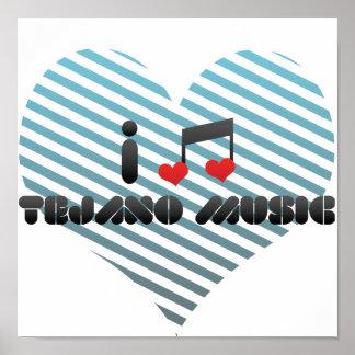 I Love Tejano Music Poster