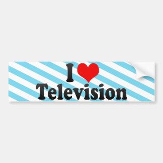 I Love Television Bumper Stickers