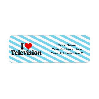 I Love Television Return Address Label