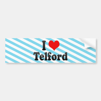 I Love Telford, United Kingdom Bumper Sticker