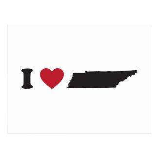 I Love Tennessee Postcard