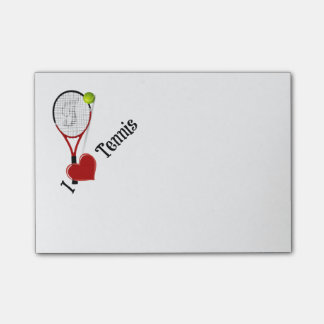 I Love Tennis, ball and racquet Post-it Notes